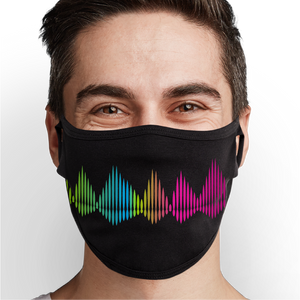 Rainbow Music Frequency Face Mask - Cloth