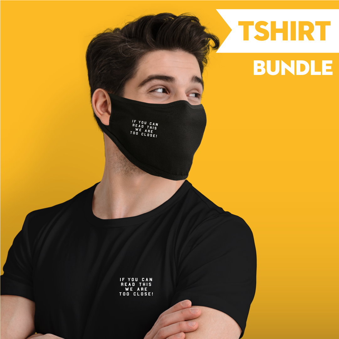If You Can Read This we Are Too Close - T-shirt Bundle