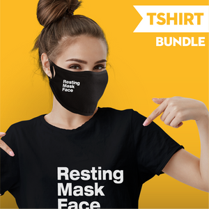 Resting Mask Face - T-shirt Bundle