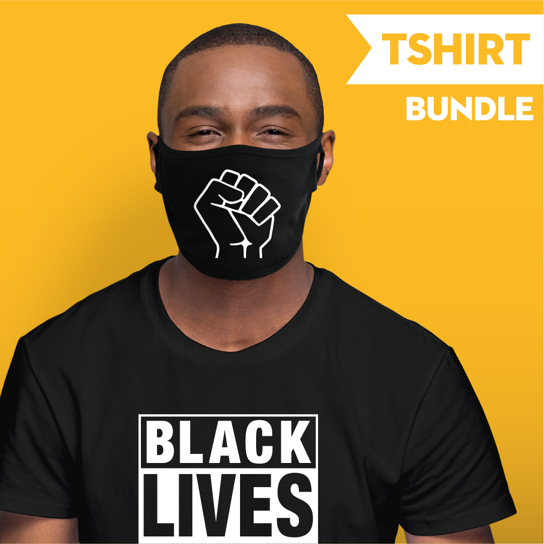 Raised Fist - Black Lives Matter - T-shirt Bundle