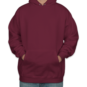 Maroon Wizard Covid Costume - Triple-Ply Mask & Hanes Heavyweight Hoodie
