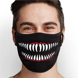 Shark Mouth Face Mask - Cloth