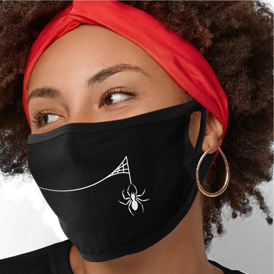 Spider Smile Face Mask - Cloth