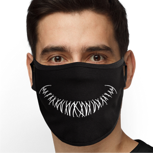 Stitches Smile Face Mask - Cloth