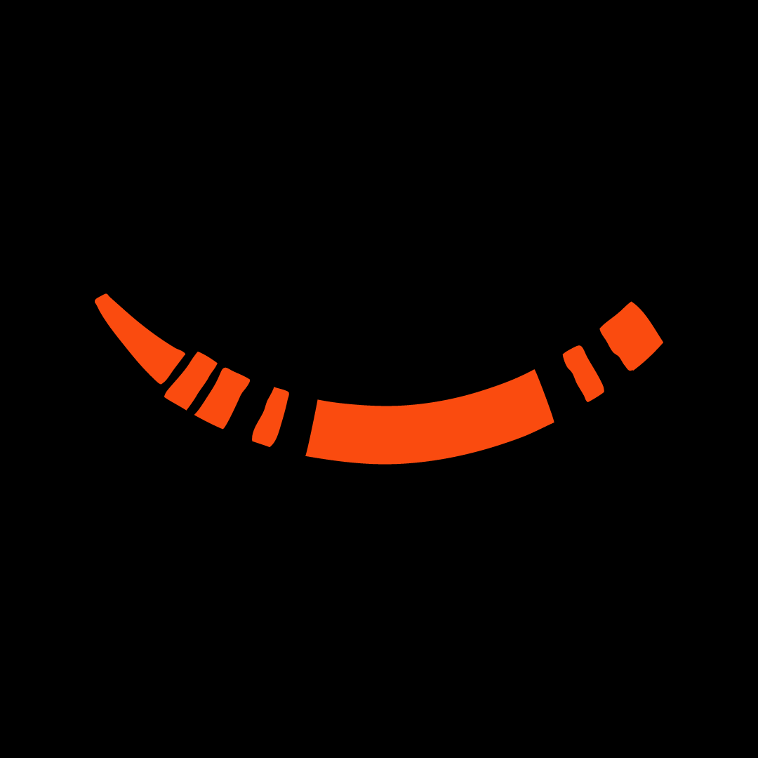 Orange Crayon Smile Face Mask - Cloth