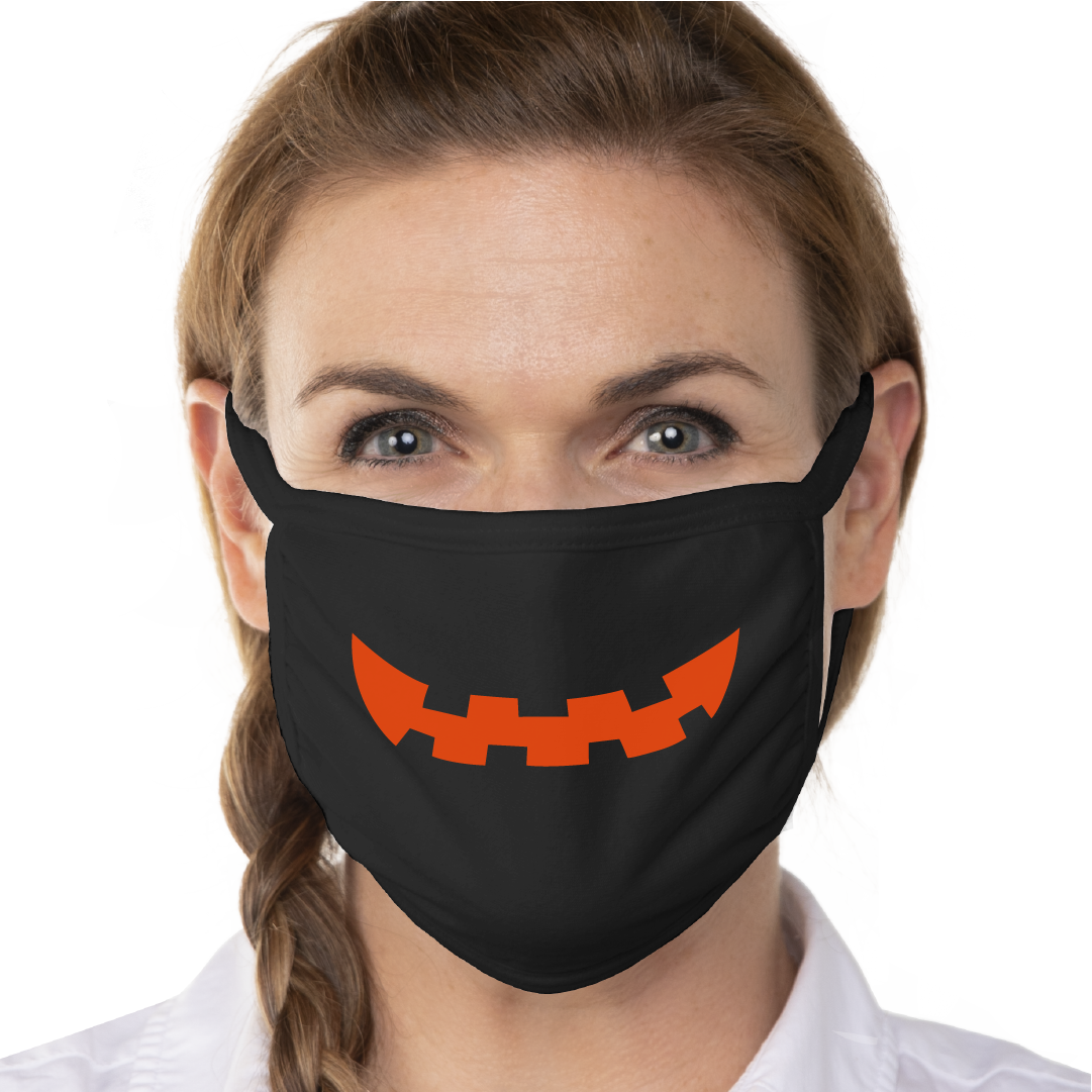 Pumpkin Grin Face Mask - Cloth