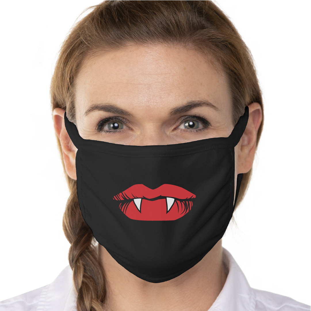 Vampire Lips Face Mask - Cloth