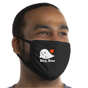 Hey, Boo Face Mask - Cloth