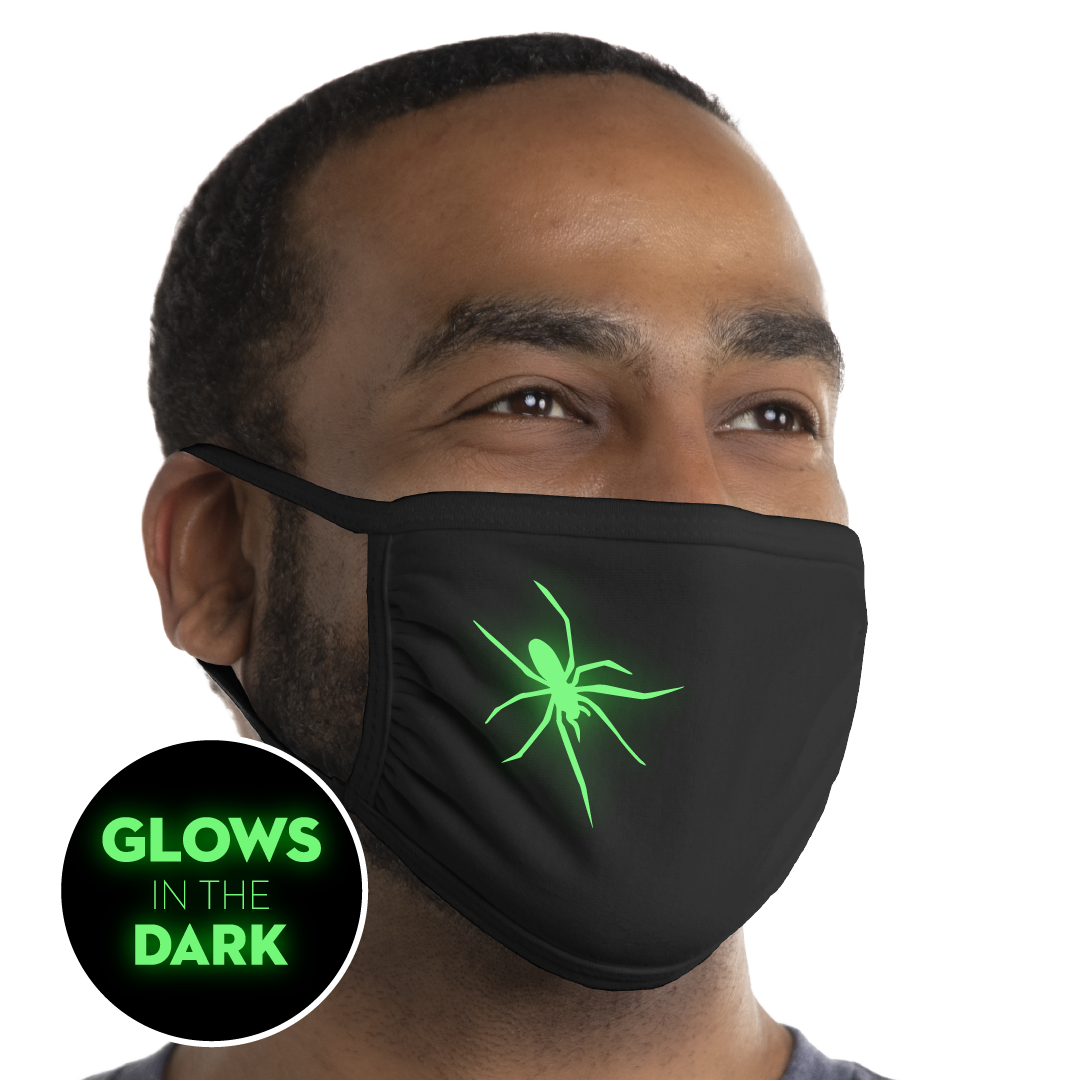 Spider - Glow In The Dark Face Mask - Cloth