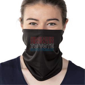 Remember In November - Gaiter Face Mask - Cloth