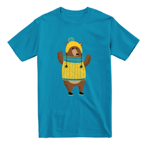 Ice Skating Bear - Kids T-Shirt