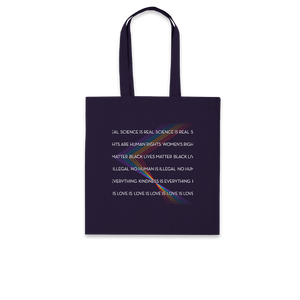 Equality Rainbow - Navy Tote Bag