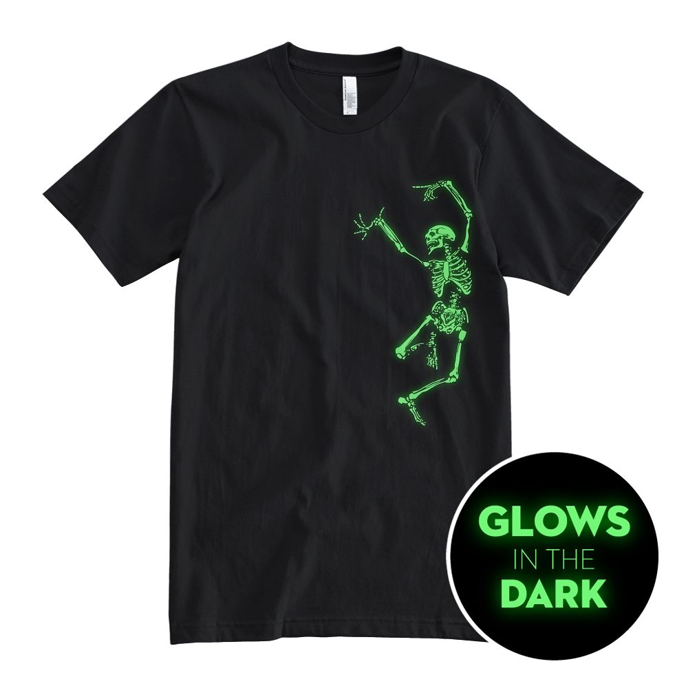 Dancing Skeleton - Glow In The Dark - Unisex T-Shirt
