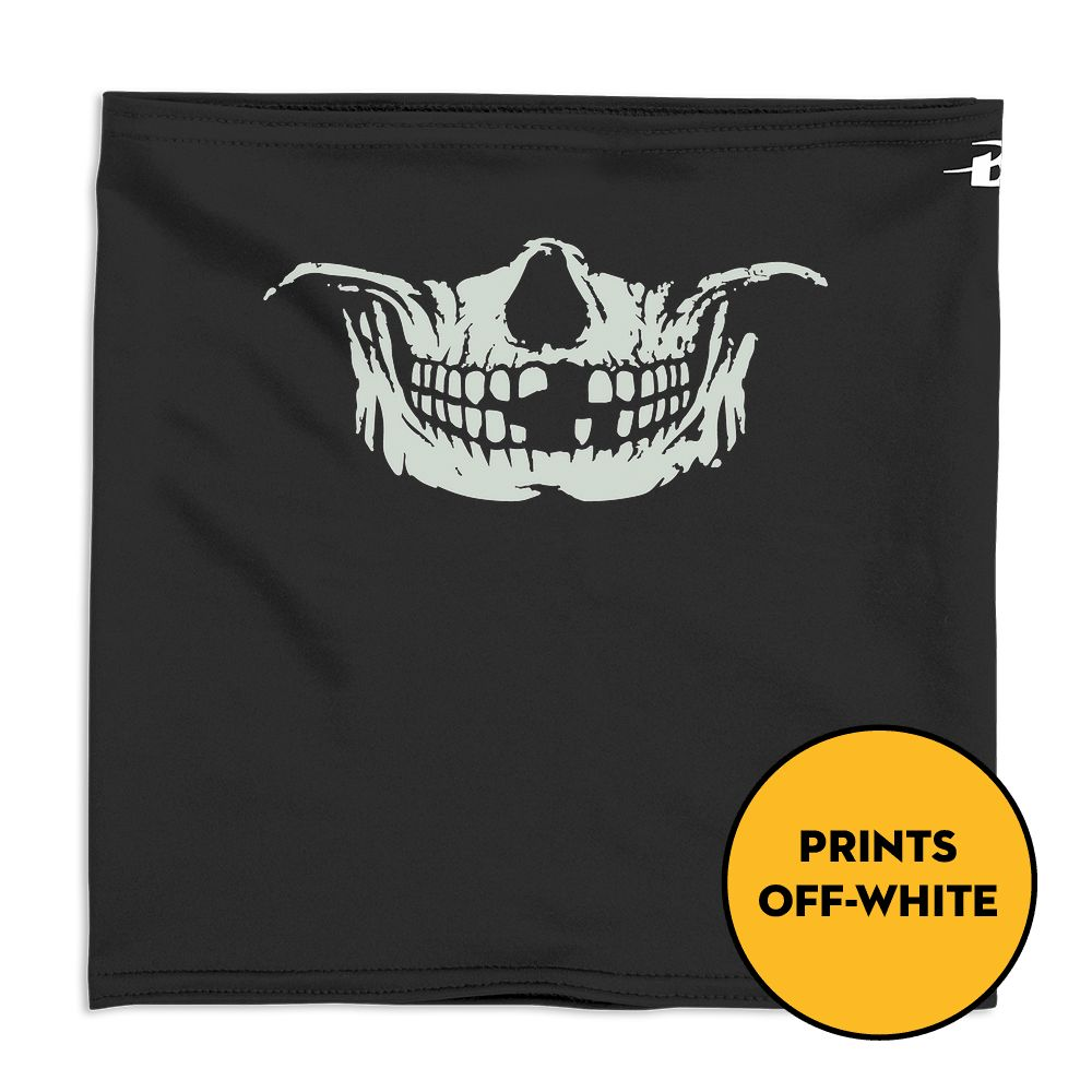 Skull Face  - Glow In The Dark - Performance Gaiter