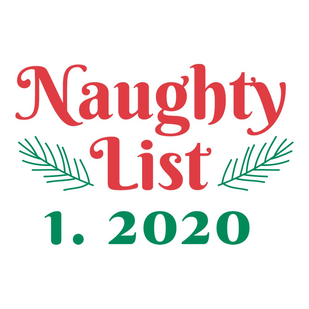 Naughty List - Triple-Ply Mask Face Mask - Cloth