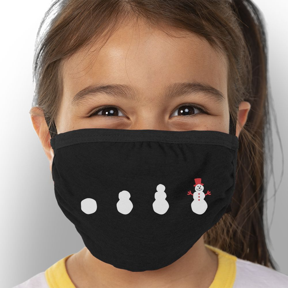 Build a Snowman - Kids Triple-Ply Mask Face Mask - Cloth