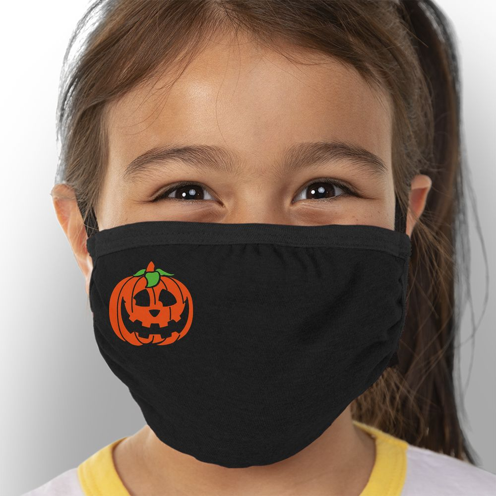 Pumpkin - Kids Triple-Ply Mask Face Mask - Cloth