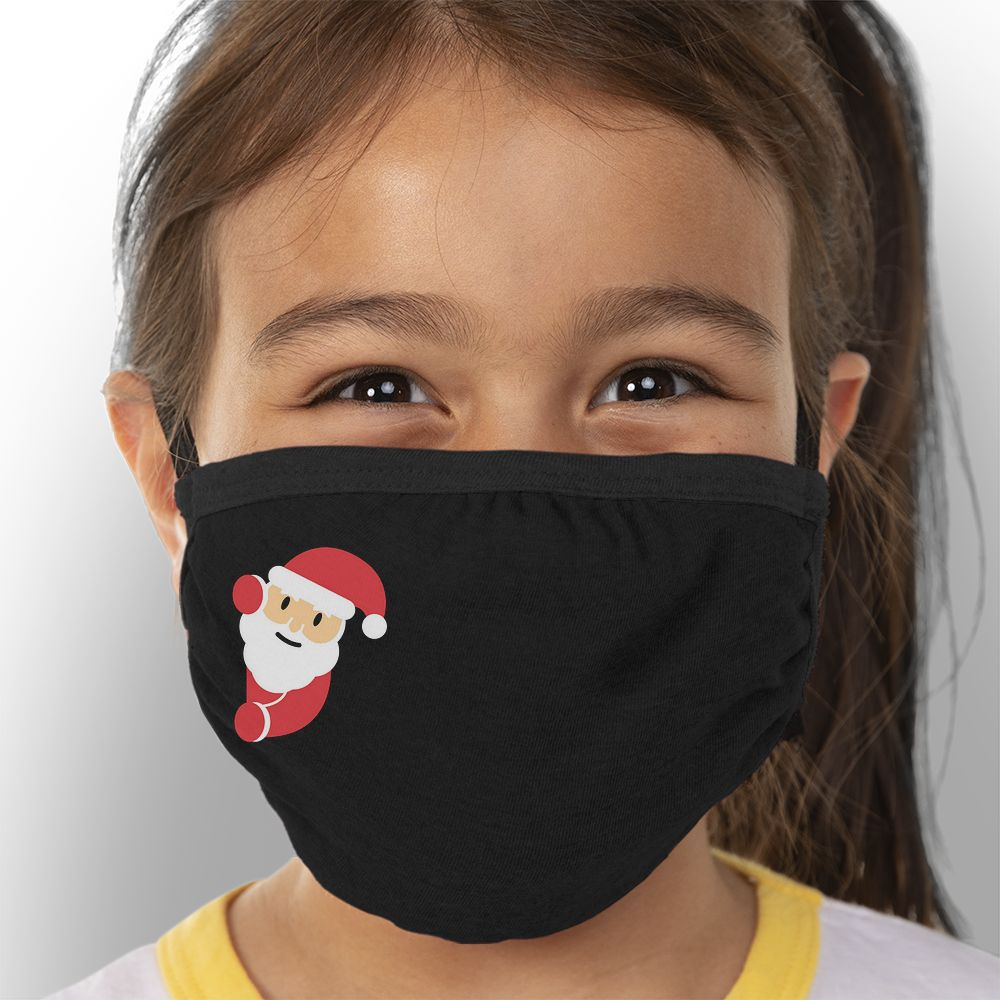 Hello Santa - Kids Triple-Ply Mask Face Mask - Cloth