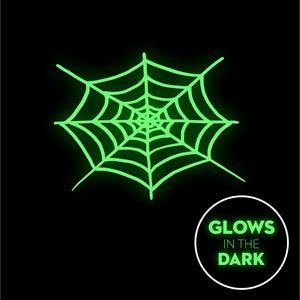 Spider Web  - Glow In The Dark - Triple-Ply Mask