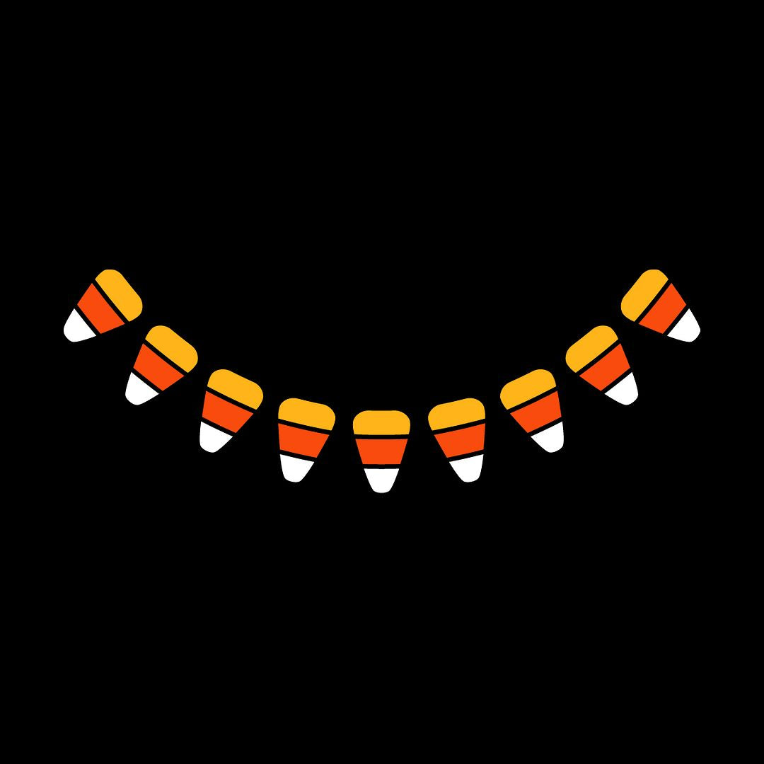 Candy Corn Smile - Triple-Ply Mask Face Mask - Cloth