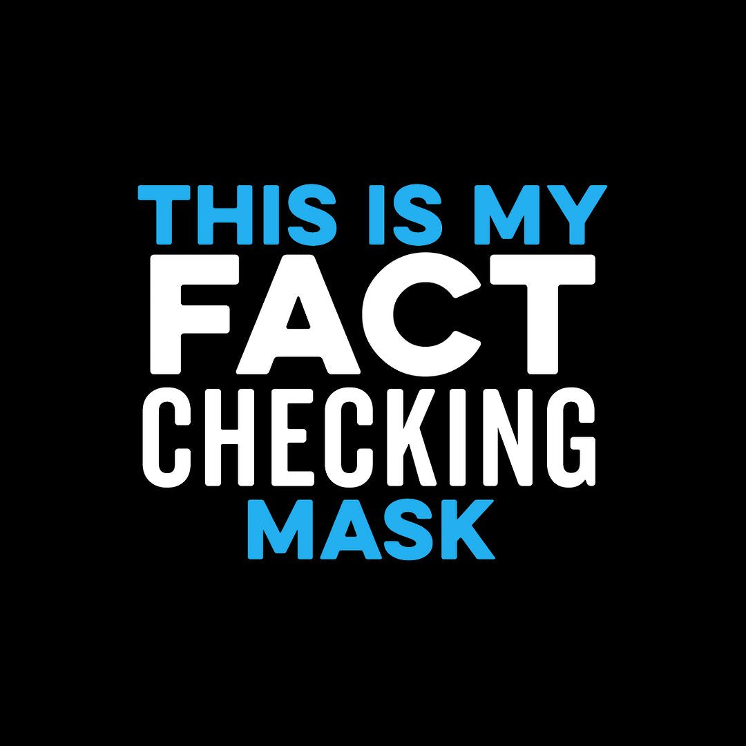 This is my Fact Checking Mask Face Mask - Cloth