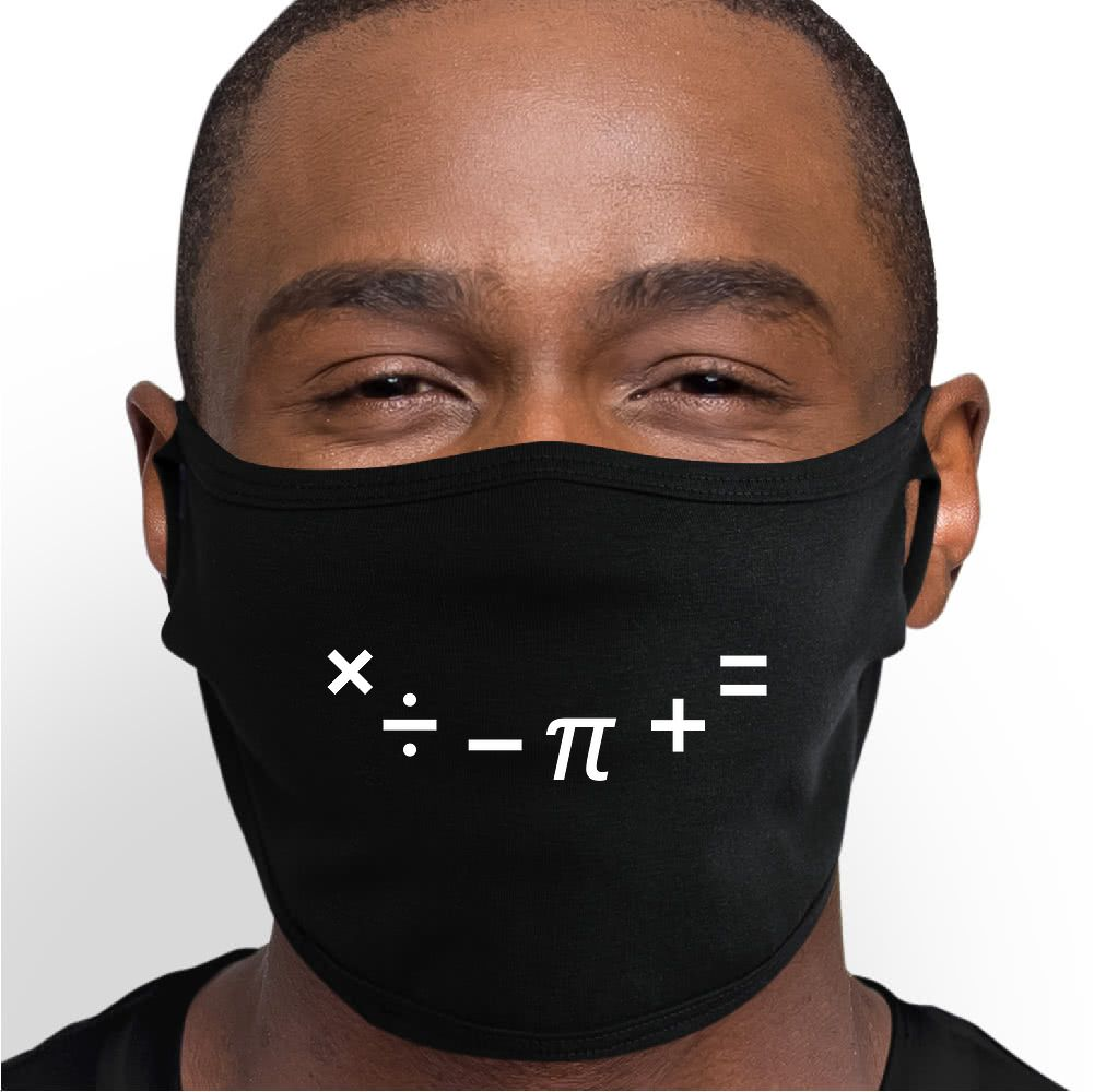 Math Smile Face Mask - Cloth