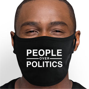 People Over Politics Face Mask - Cloth