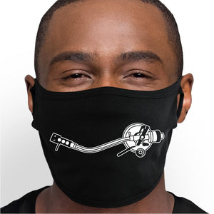 Record Player Smile Face Mask - Cloth