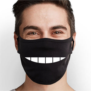 Comic Smile Face Mask - Cloth