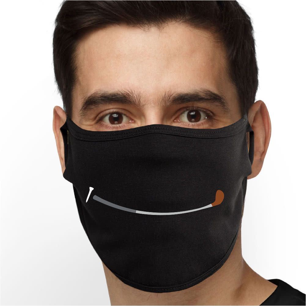 Golf Smile Face Mask - Cloth