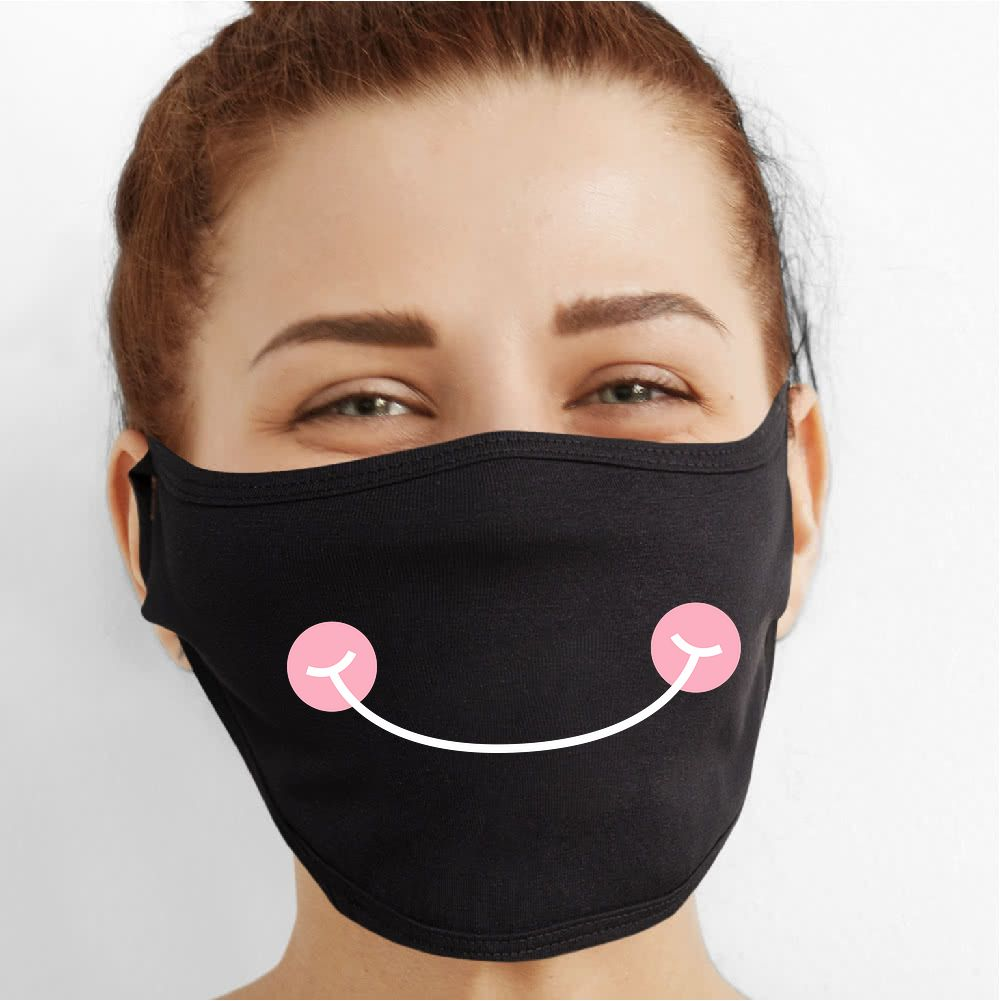 Rosie Smile Face Mask - Cloth