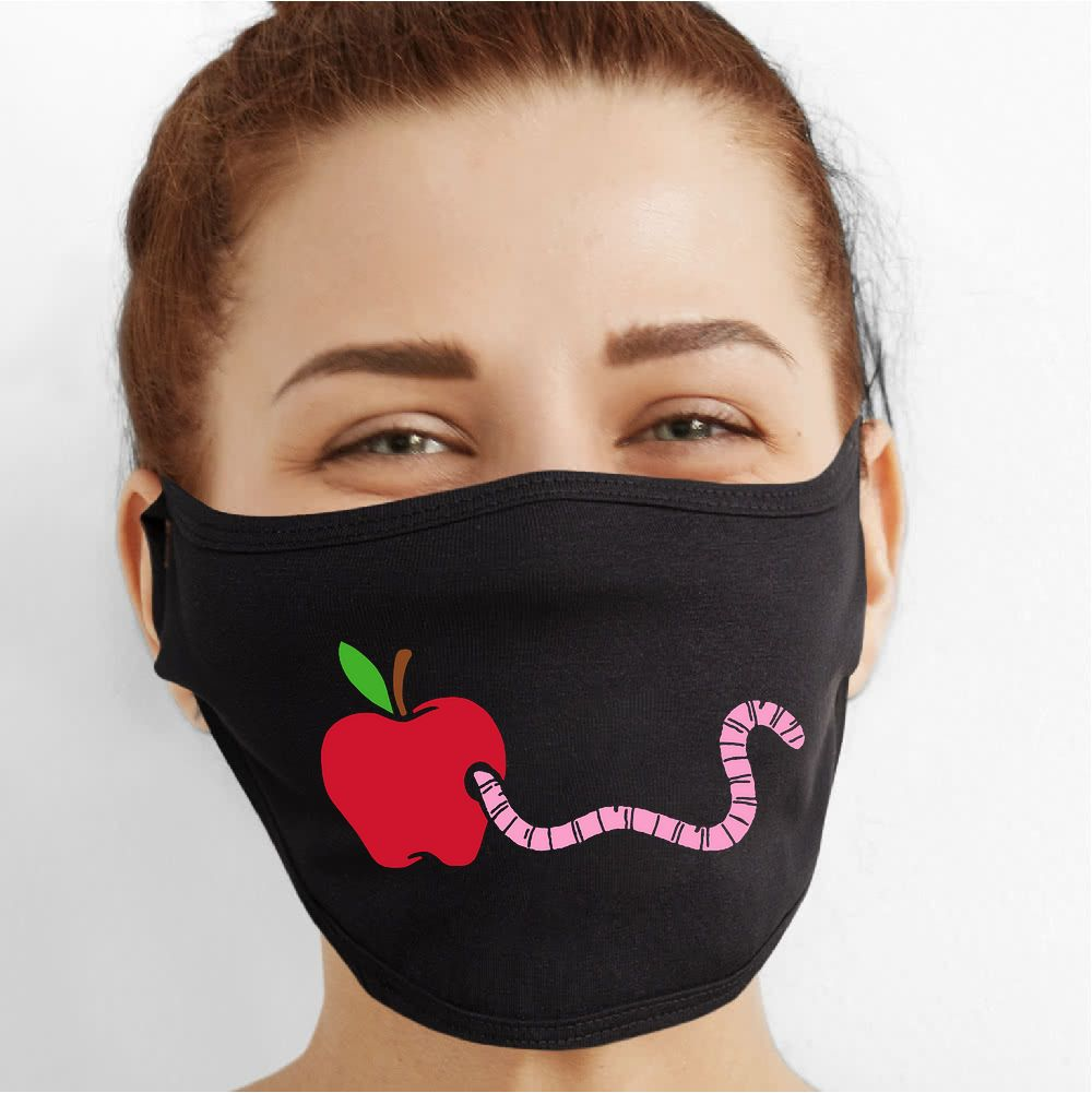 Hungry Worm Smile Face Mask - Cloth