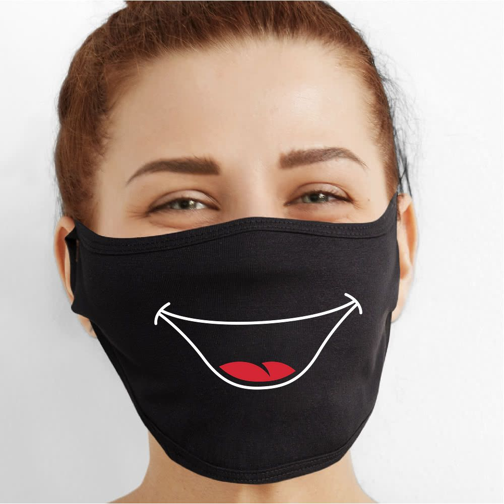 Big Smile Face Mask - Cloth