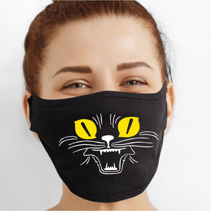 Halloween Cat Face Mask - Cloth