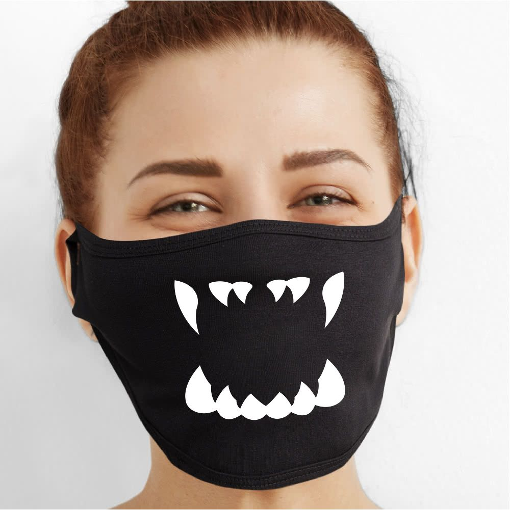 Wolf Mouth Face Mask - Cloth
