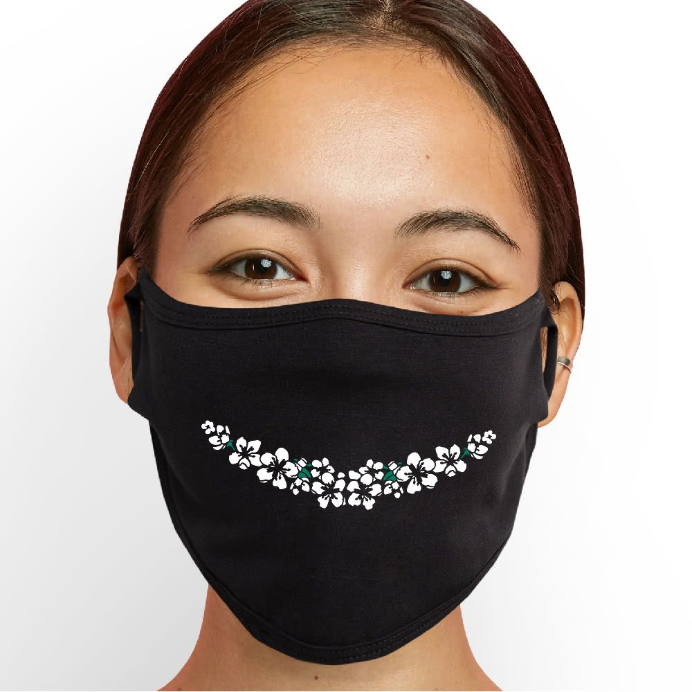 Bouquet Smile Face Mask - Cloth