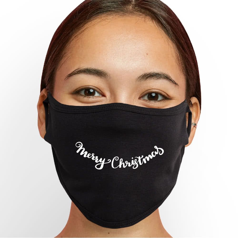Merry Christmas Smile Face Mask - Cloth