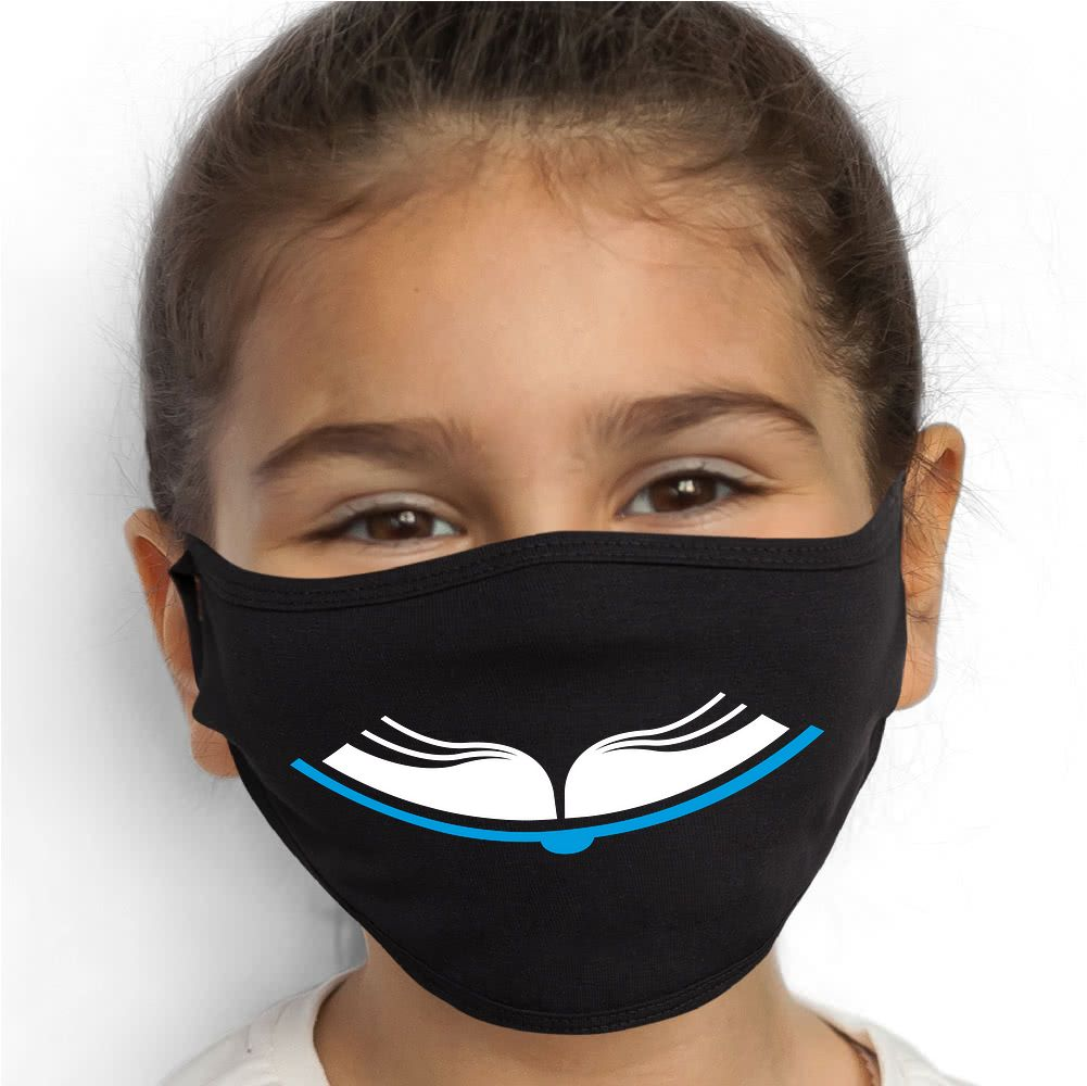 Book Smile Face Mask - Cloth