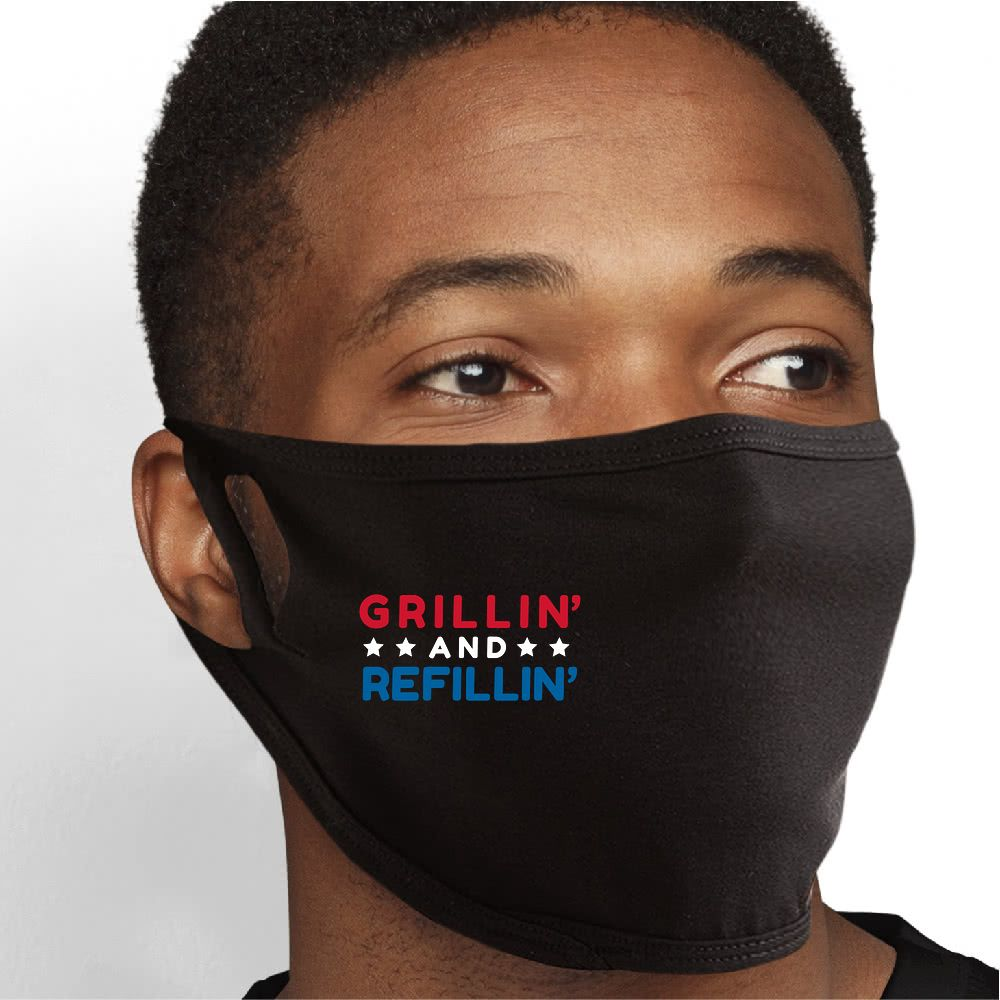 Grillin And Refillin Face Mask - Cloth