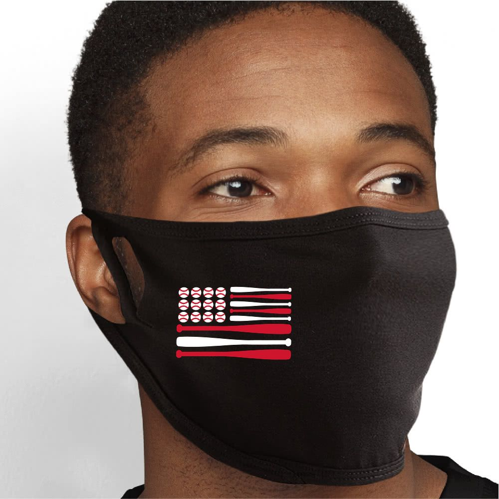 Baseball USA Face Mask - Cloth