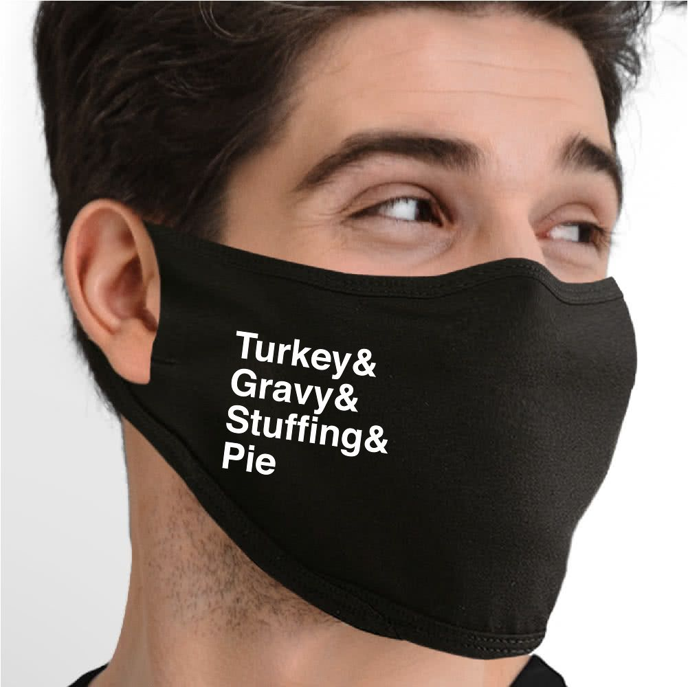 Thanksgiving Favorites Face Mask - Cloth