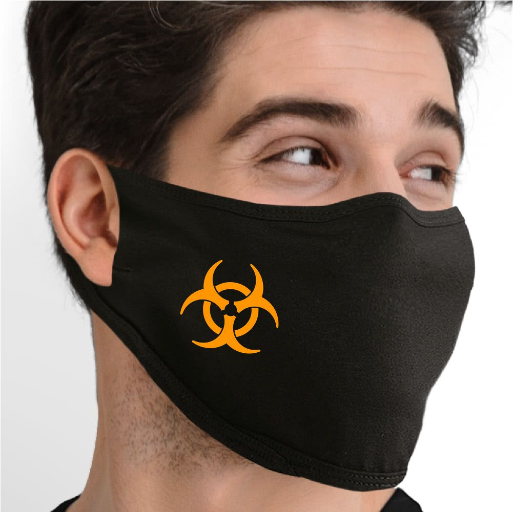 Biohazard (Yellow) Face Mask - Cloth