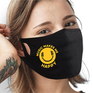 Music Makes Me Happy Face Mask - Cloth