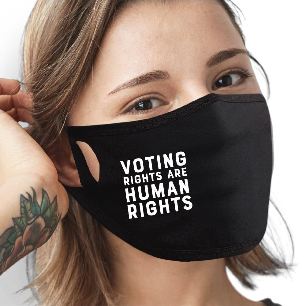 Voting Rights Are Human Rights Face Mask - Cloth
