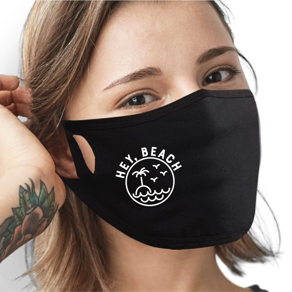 Hey, Beach Face Mask - Cloth