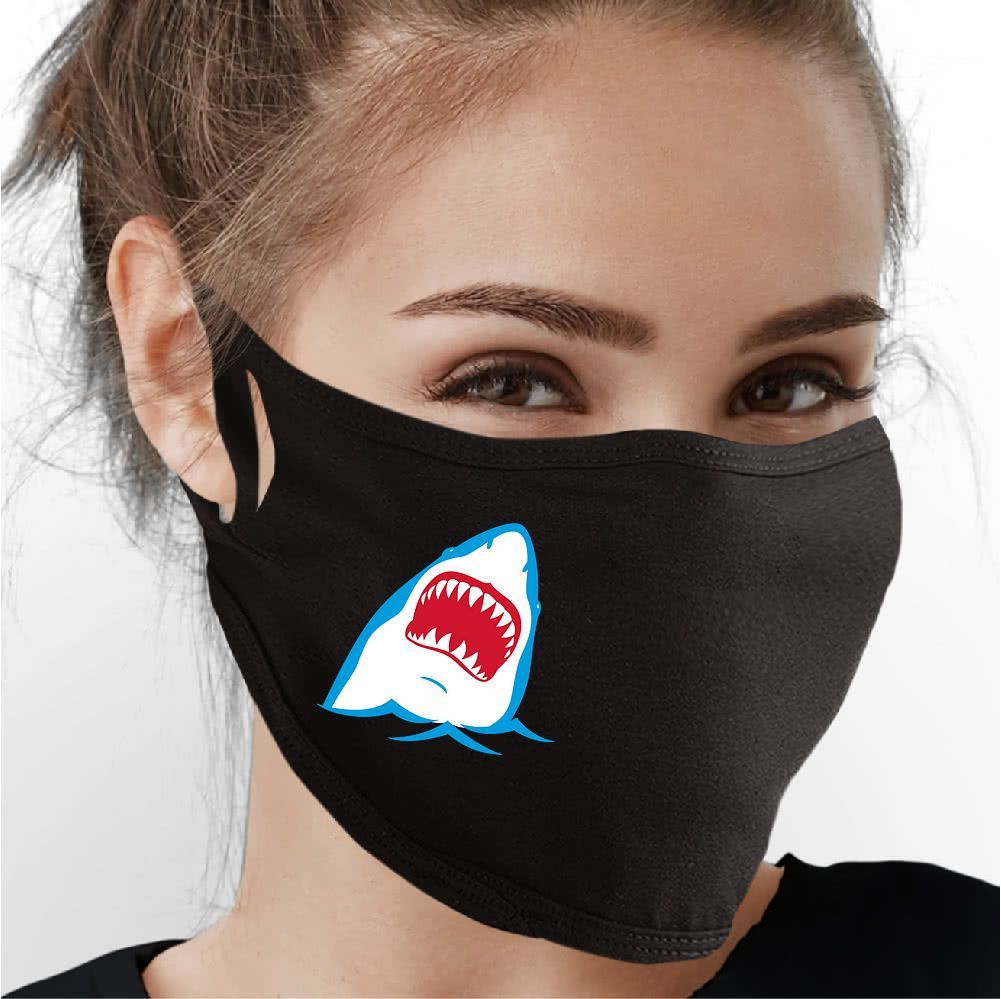 Shark Attack Face Mask - Cloth