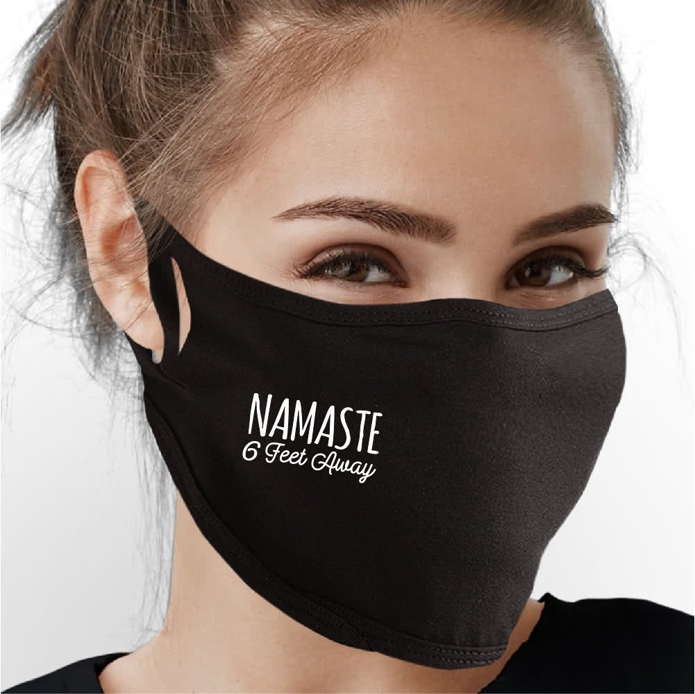 Namaste 6 Feet Away Face Mask - Cloth