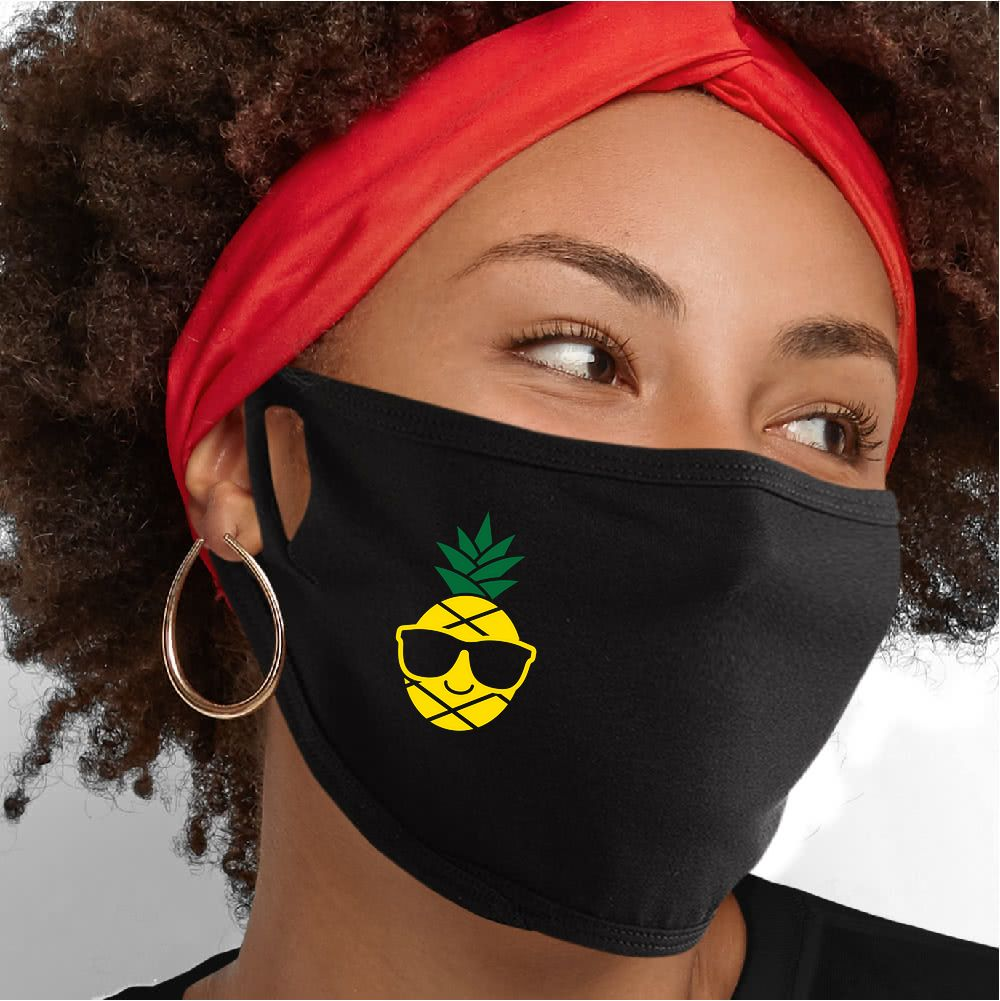 Cool As A Pinapple Face Mask - Cloth