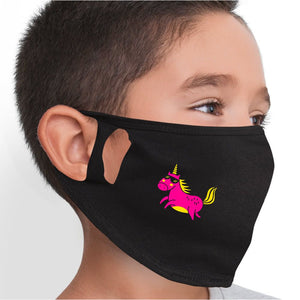 Cool Unicorn Face Mask - Cloth