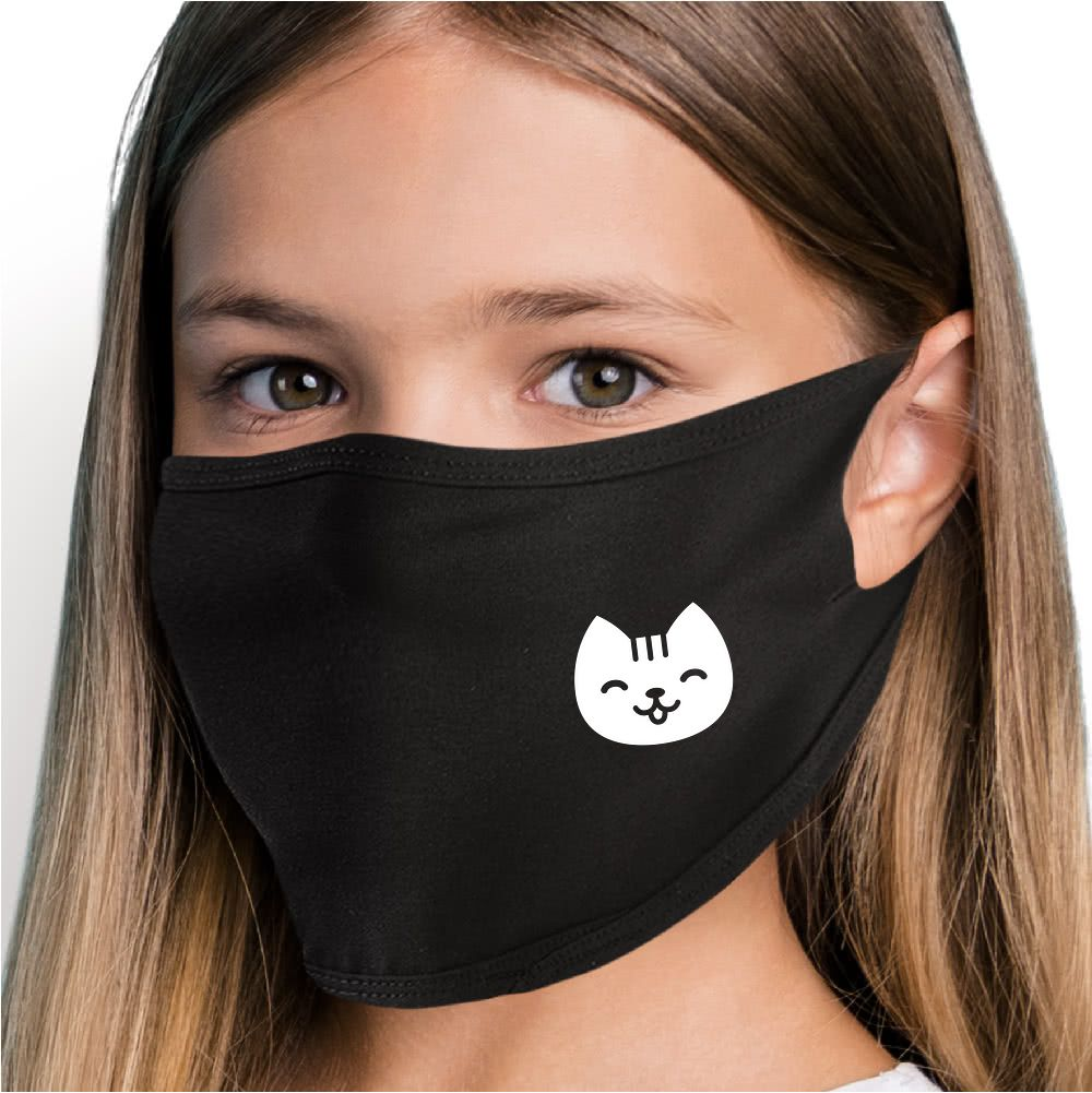 Happy Cat Face Mask - Cloth